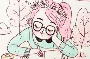 As ilustrações em candy color de Fran Meneses