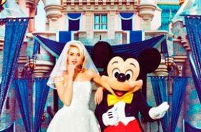 Ensaio com vestidos de noiva na Disneyland