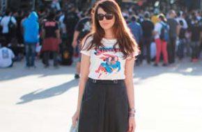 Look do dia: Midi e t-shirt