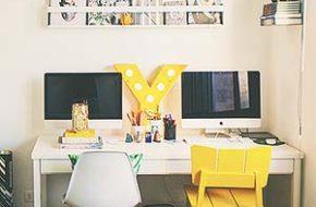 Decoração: Dividindo o home office