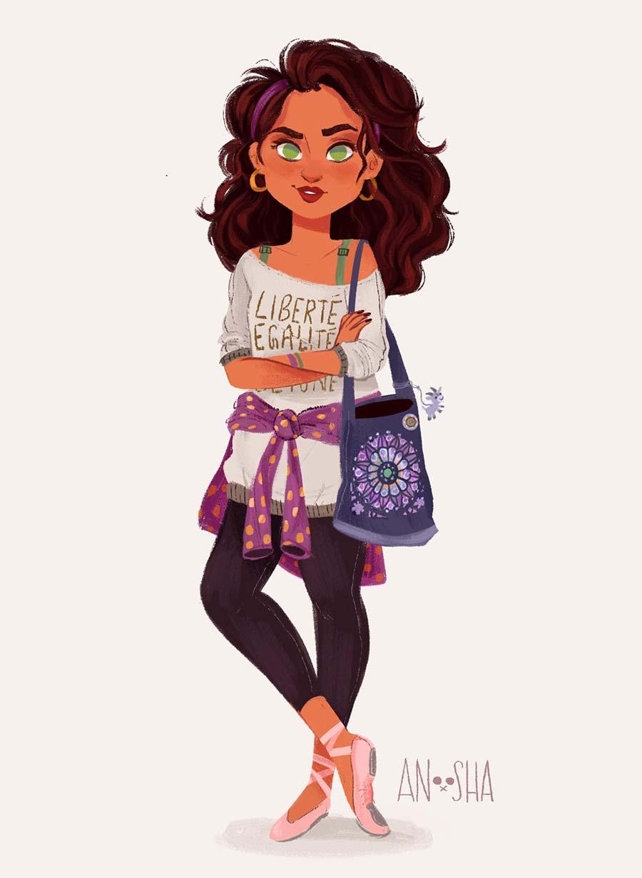 disney-ilustracao-roupasmodernas-esmeralda