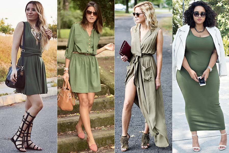 Como usar un vestido verde