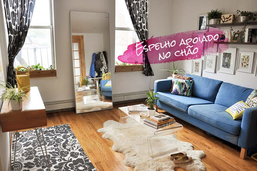 Decora o espelho apoiado no ch o just lia por lia camargo - Tips on home decorating set ...