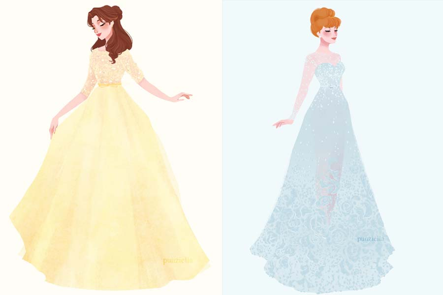Princesas Disney Com Vestidos De Estilistas Famosos Just