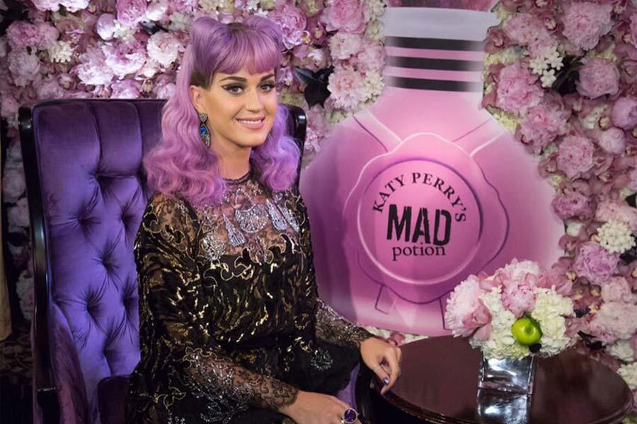Katy no lançamento da fragrância