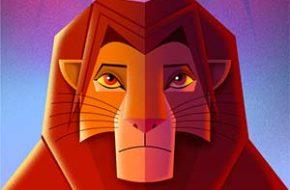 Pôsteres de filmes Disney em Art Déco