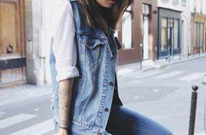 Como usar: Colete jeans