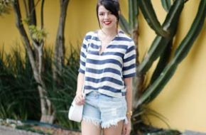 Look do dia: Listras azuis