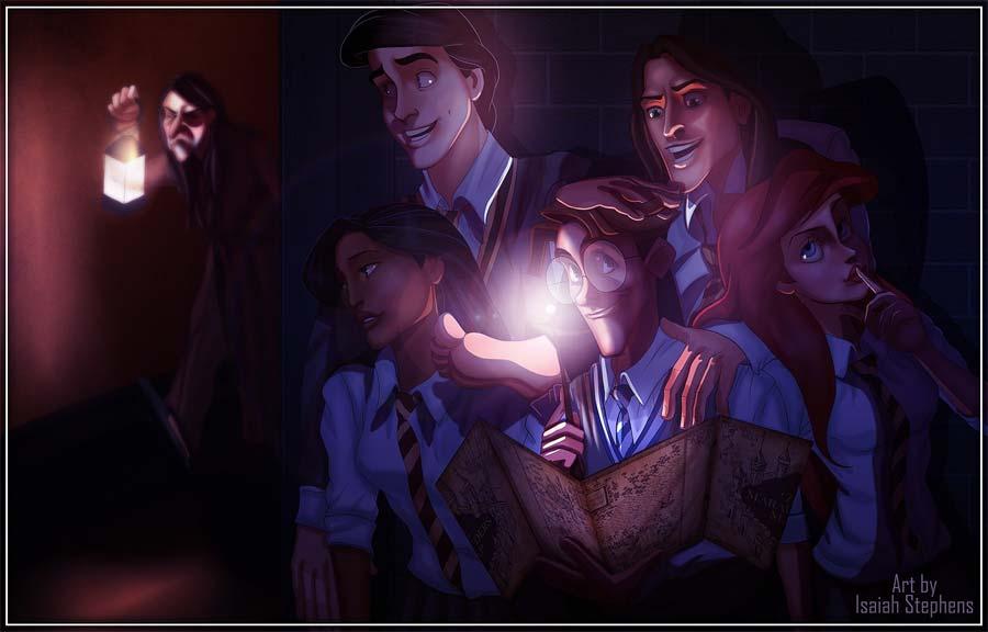 disney-ilustracoes-harrypotter-hogwarts-004