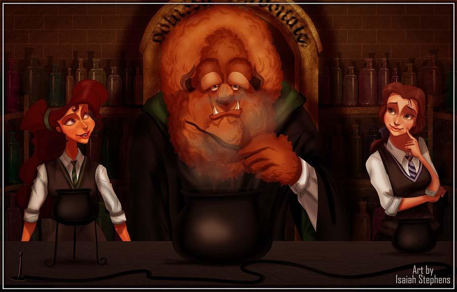 disney-ilustracoes-harrypotter-hogwarts-009