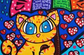 As ilustrações coloridas de gatinhos de Joana Diggle