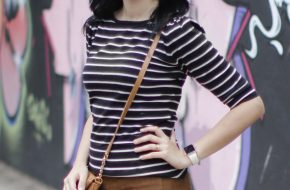4 jeitos de usar: Blusa listrada preta