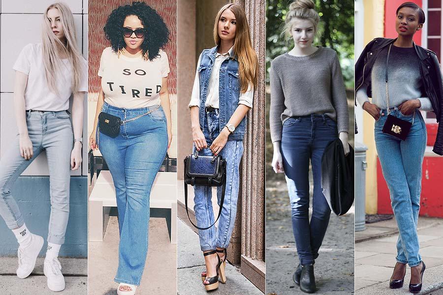 Looks com calça cintura alta jeans just lia