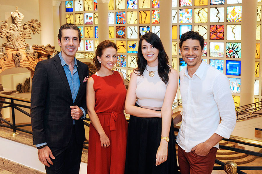 Alexandre, Camila e Gabriel