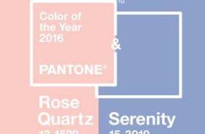 Rose Quartz e Serenity são as cores de 2016