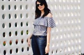 Look do dia: Blusa ombro a ombro e jeans