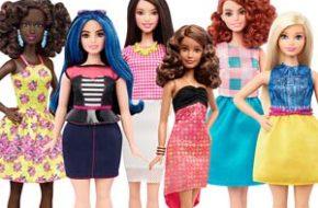 Os novos tipos de corpo da Barbie
