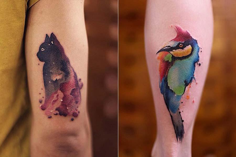 Foi fazer uma tatuagem