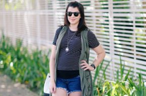 Look do dia: Listras e colete