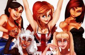 Personagens Disney como popstars dos anos 90
