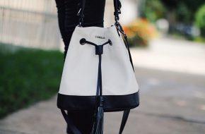 4 jeitos de usar: Bolsa saco branca e preta
