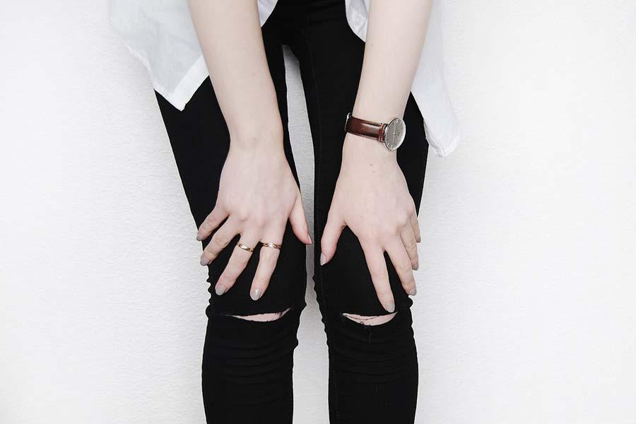 Tendência  Jeans rasgado no joelho  0e8008dfcd3b3