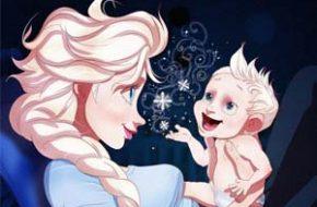 Princesas Disney como mamães