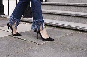 Tendência: Calça jeans com franjas