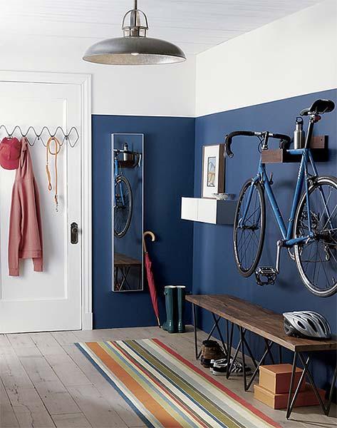 Decora o parede pintada pela metade just lia por lia - Armarios para bicicletas ...