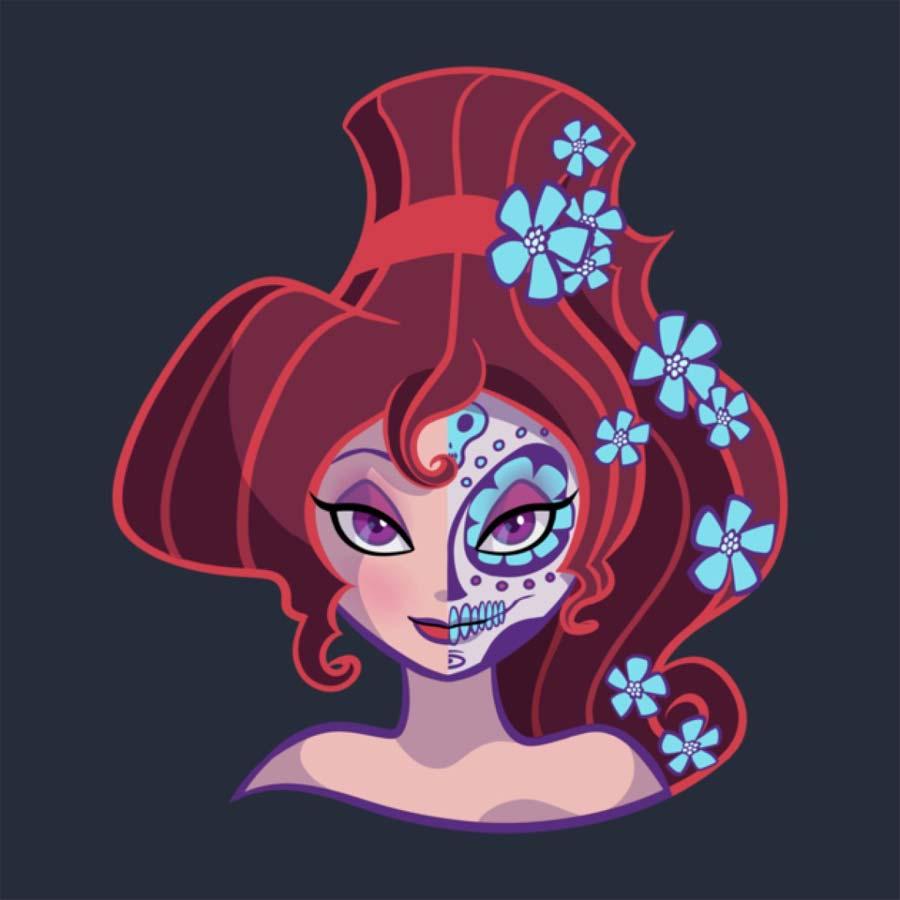 disney-ilustracoes-princesas-caveirasmexicanas-012