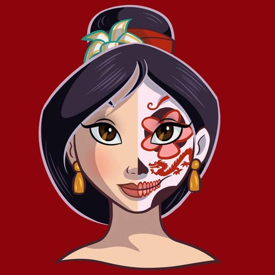 disney-ilustracoes-princesas-caveirasmexicanas-013