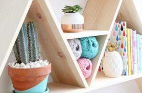 Decoração: Triangle shelf