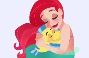 Princesas Disney com seus pets