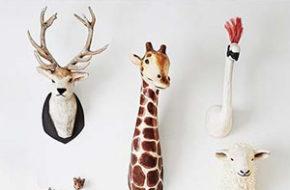 Decoração: Falsas cabeças de animais