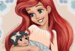 Princesas Disney com seus bebês