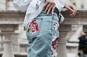 Como usar: Calça jeans bordada