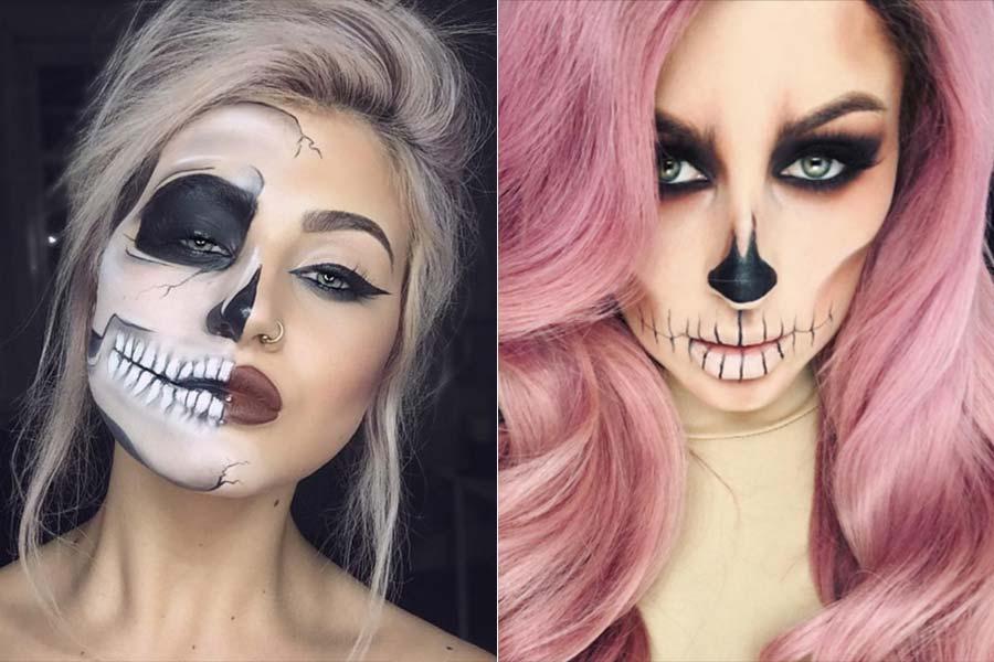 Maquiagem de Halloween Esqueleto