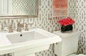 Decoração: Papel de parede no banheiro