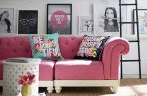 Decoração: Sofá rosa
