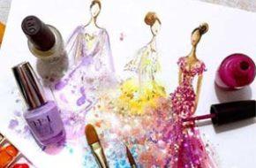 Ilustrações de moda com esmaltes por Chan Clayrene