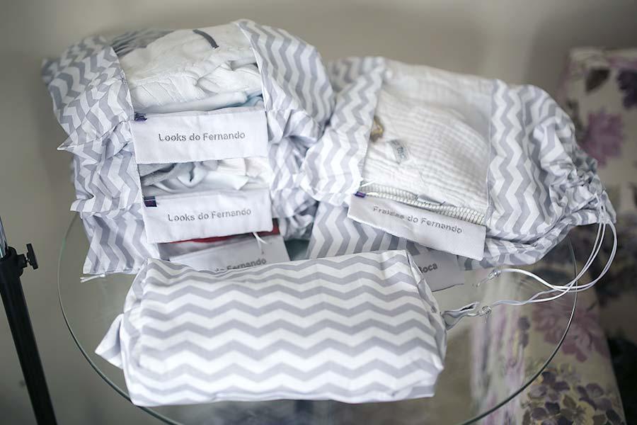 Todo conteúdo da mala do bebê