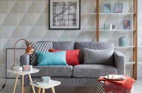 Decoração: Papel de parede geométrico
