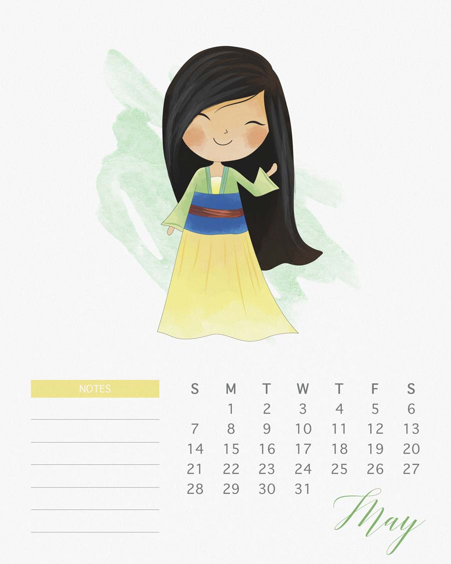 Calendar Girl May Free Read : Calendário das princesas disney e de star wars