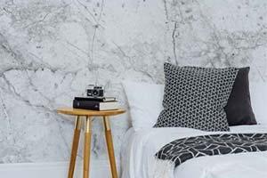 Decoração: Papel de parede imitando mármore