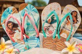 "As Havaianas de ""Moana"" da Disney"