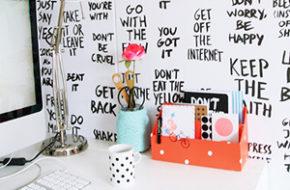 Decoração: Frases na parede