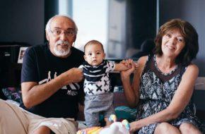 Ensaio do bebê com os avós