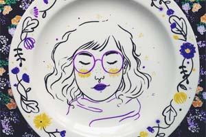 Anna Charlie e seus lindos pratos decorativos
