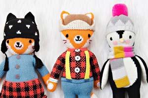 Os bonecos solidários da Cuddle+Kind