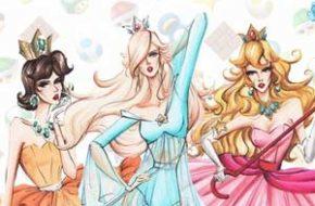 Personagens pop em ilustrações de moda de Guillermo Meraz